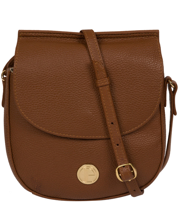 'Toto' Tan Leather Cross Body Bag image 1
