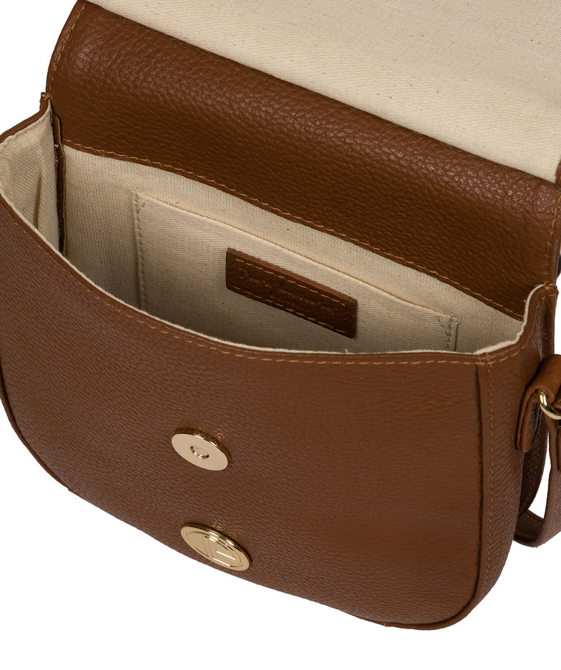'Toto' Tan Leather Cross Body Bag image 4