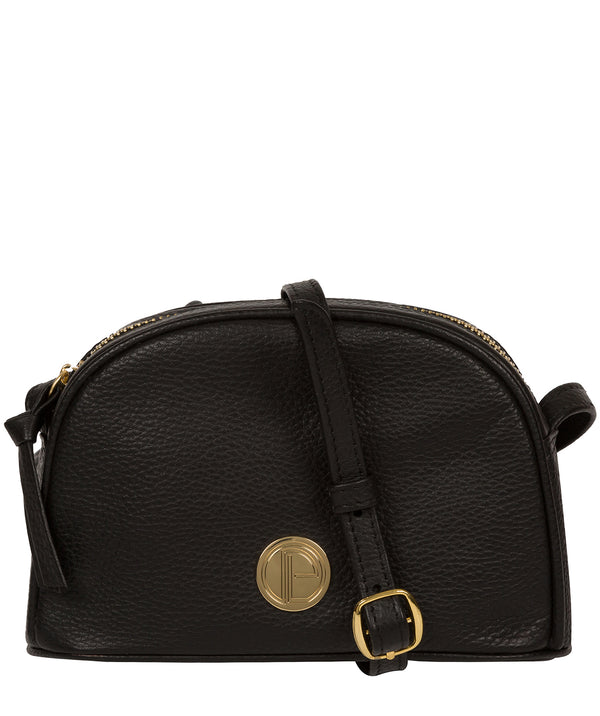 'Pixie' Black Leather Cross Body Bag image 1