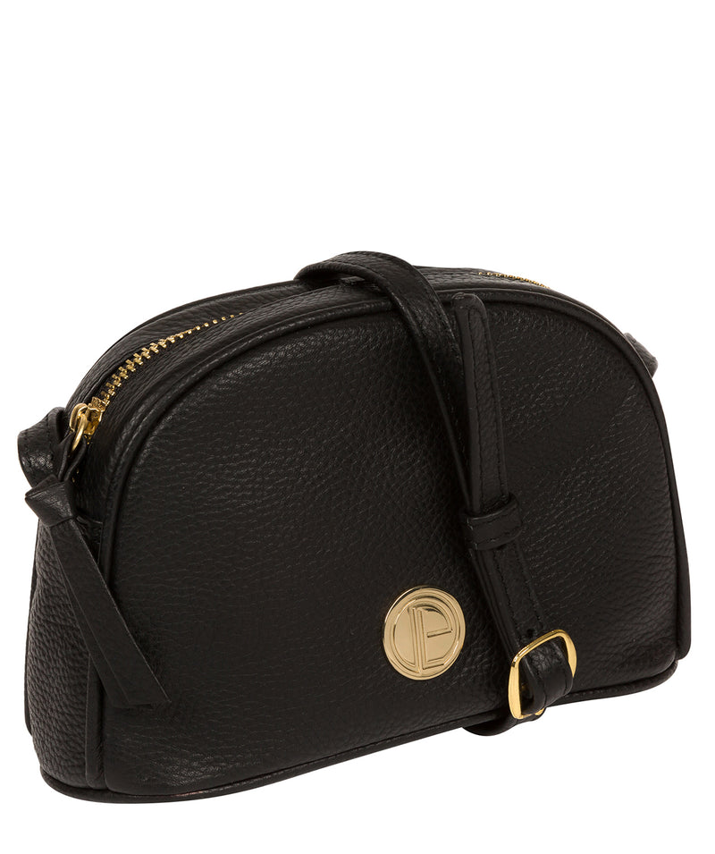 'Pixie' Black Leather Cross Body Bag image 5