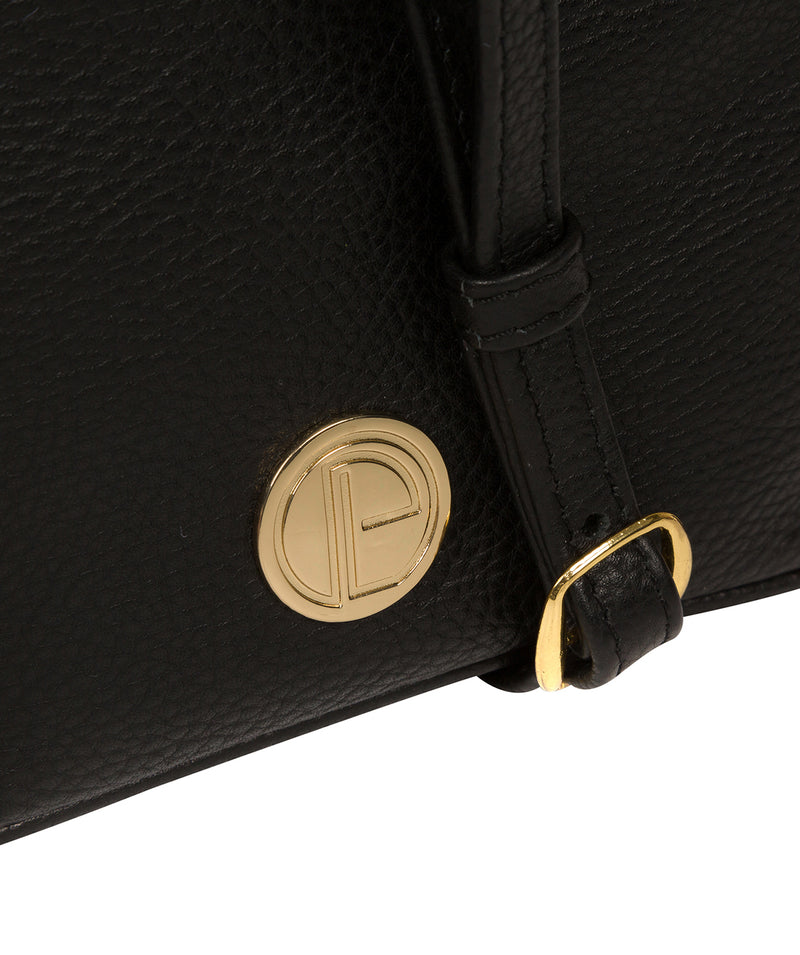 'Pixie' Black Leather Cross Body Bag image 6