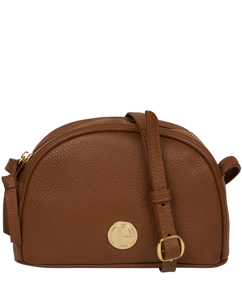 'Pixie' Tan Leather Cross Body Bag image 1