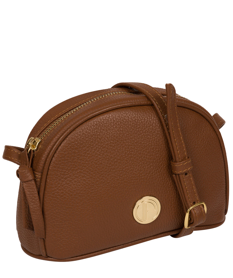 'Pixie' Tan Leather Cross Body Bag image 5