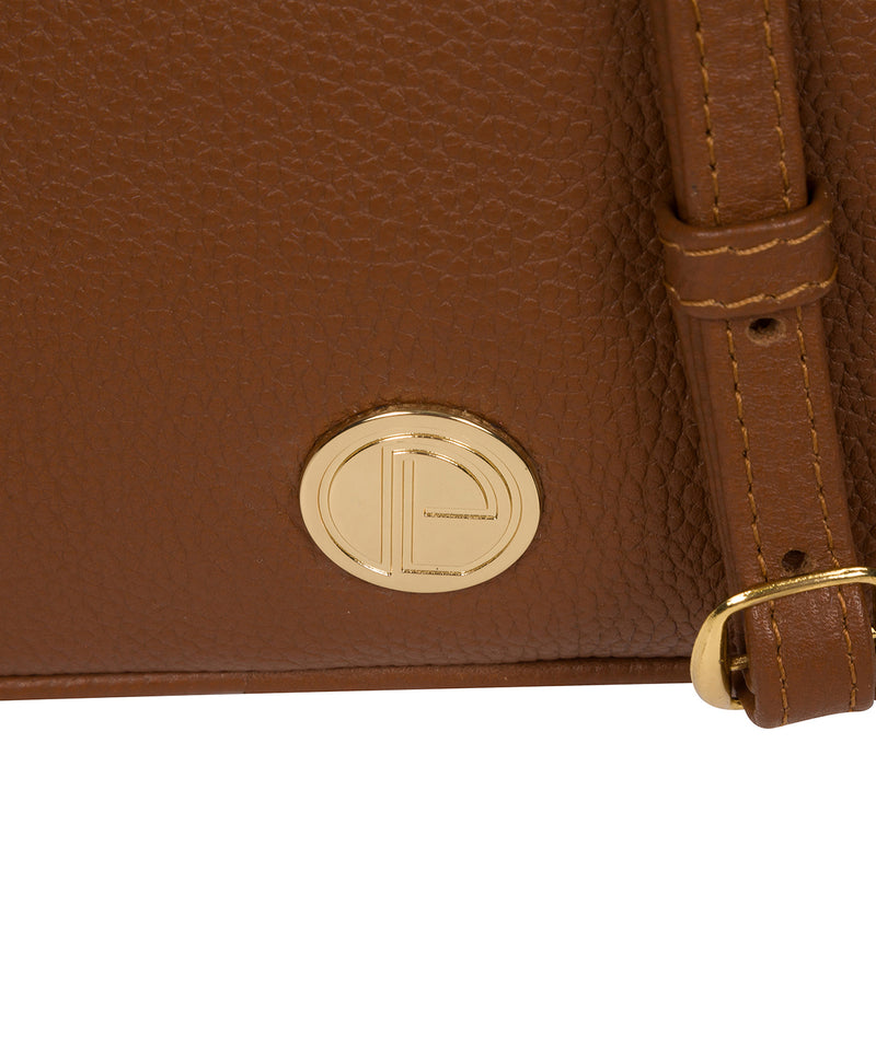 'Pixie' Tan Leather Cross Body Bag image 6