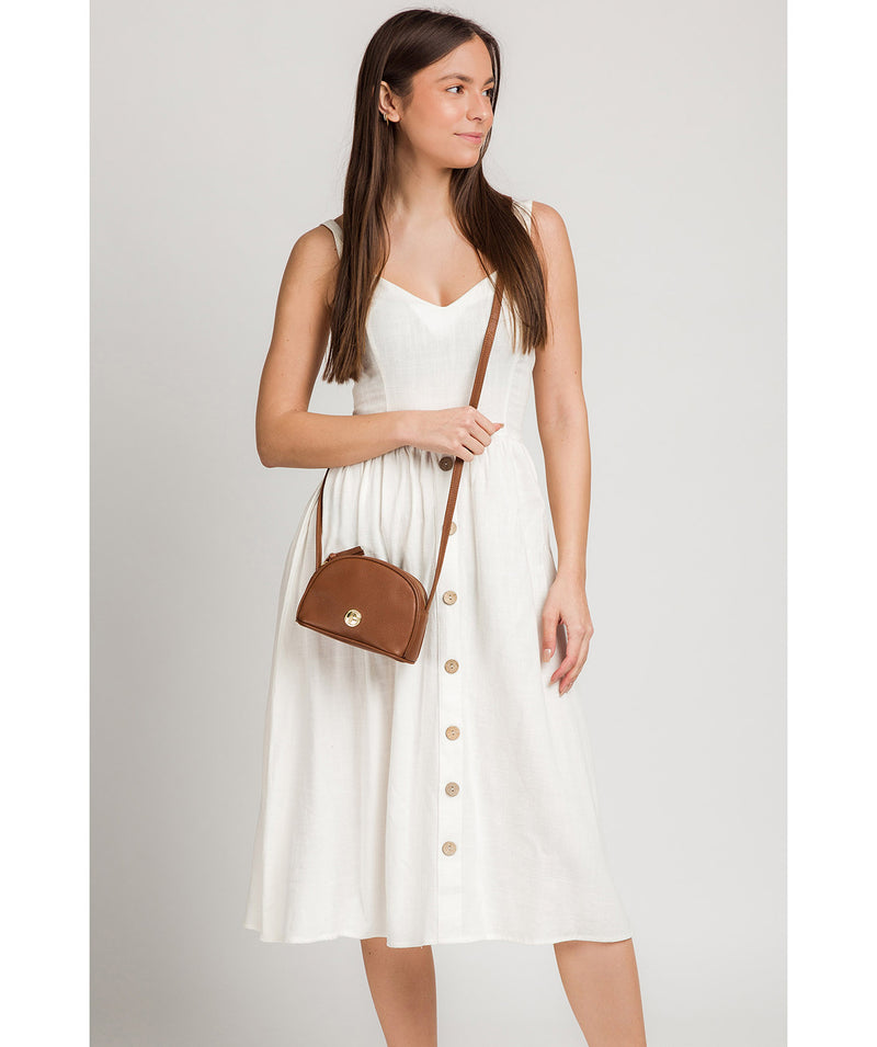 'Pixie' Tan Leather Cross Body Bag image 2