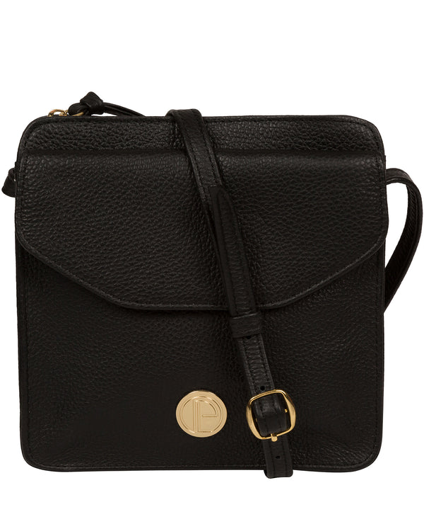 'Coco' Black Leather Cross Body Bag image 1