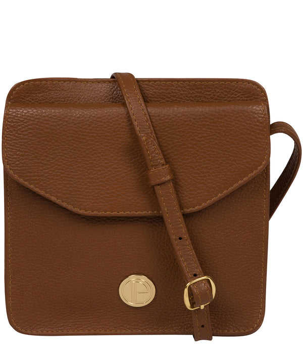 'Coco' Tan Leather Cross Body Bag image 1