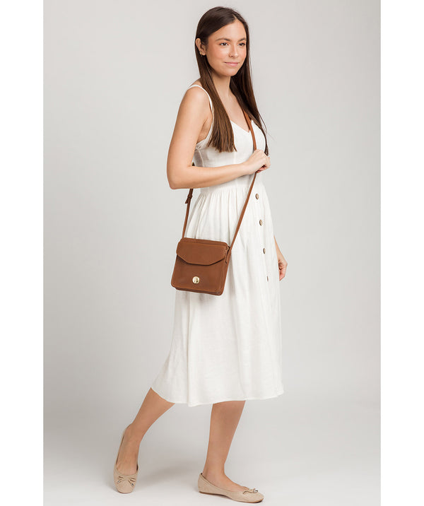 'Coco' Tan Leather Cross Body Bag image 2