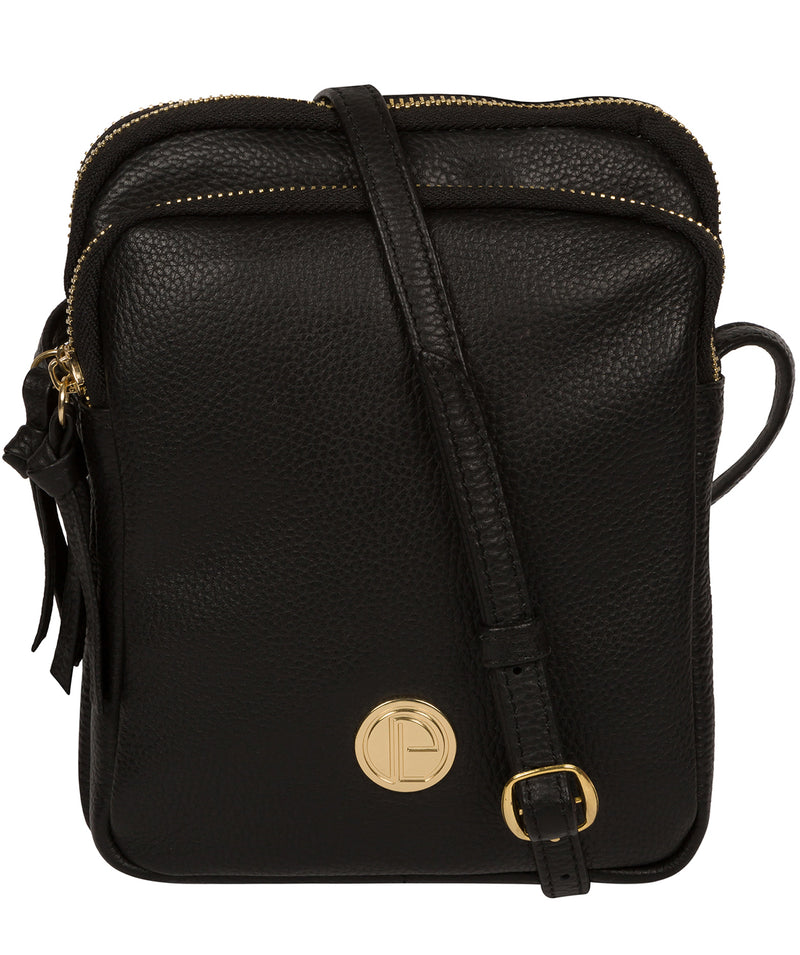 'Minnie' Black Leather Cross Body Bag image 1