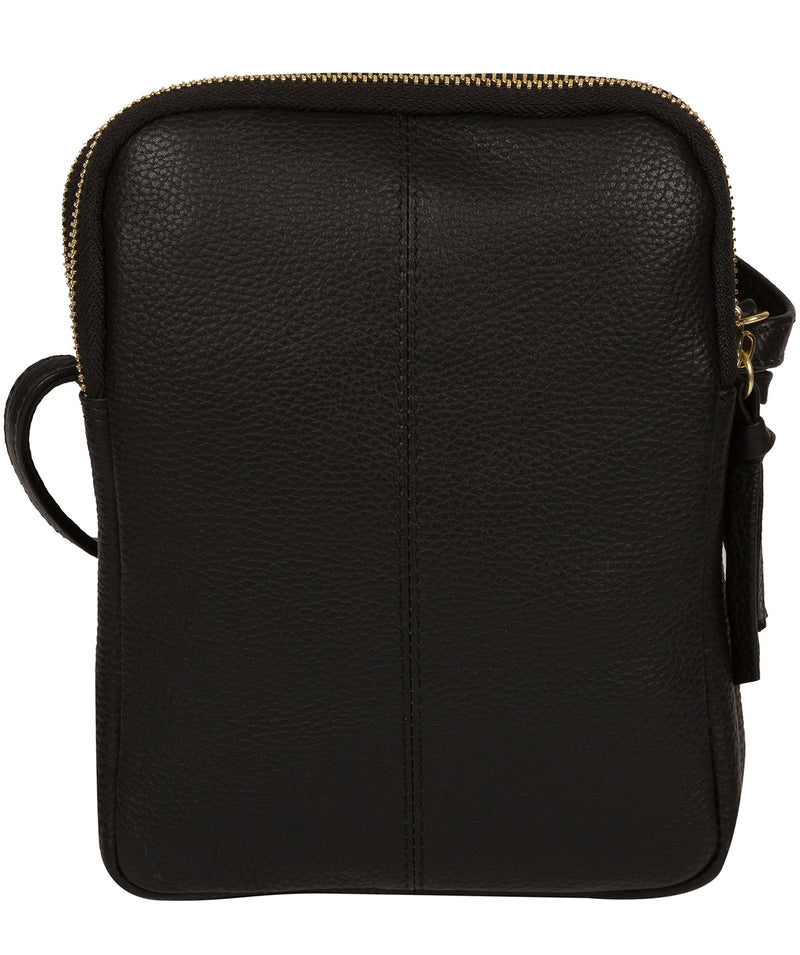 'Minnie' Black Leather Cross Body Bag image 3