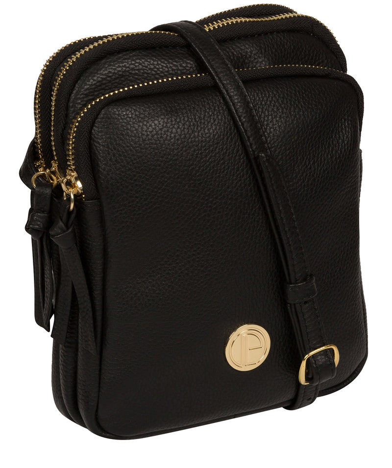'Minnie' Black Leather Cross Body Bag image 5