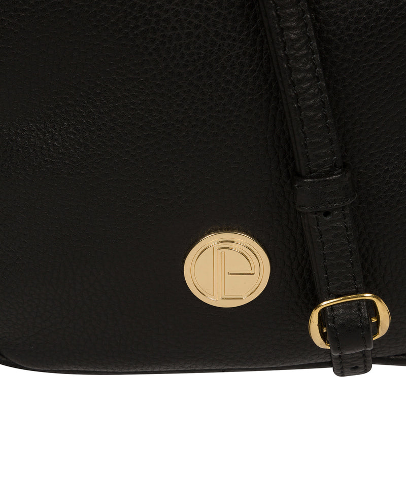 'Minnie' Black Leather Cross Body Bag image 6