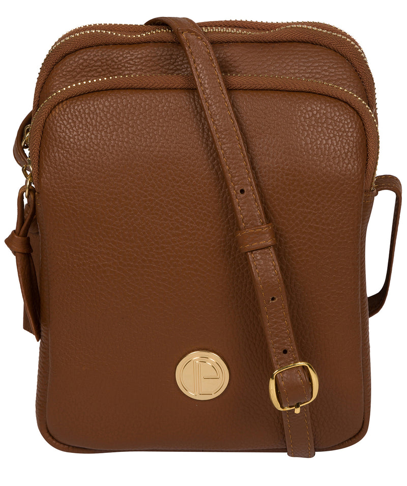 'Minnie' Tan Leather Cross Body Bag image 1