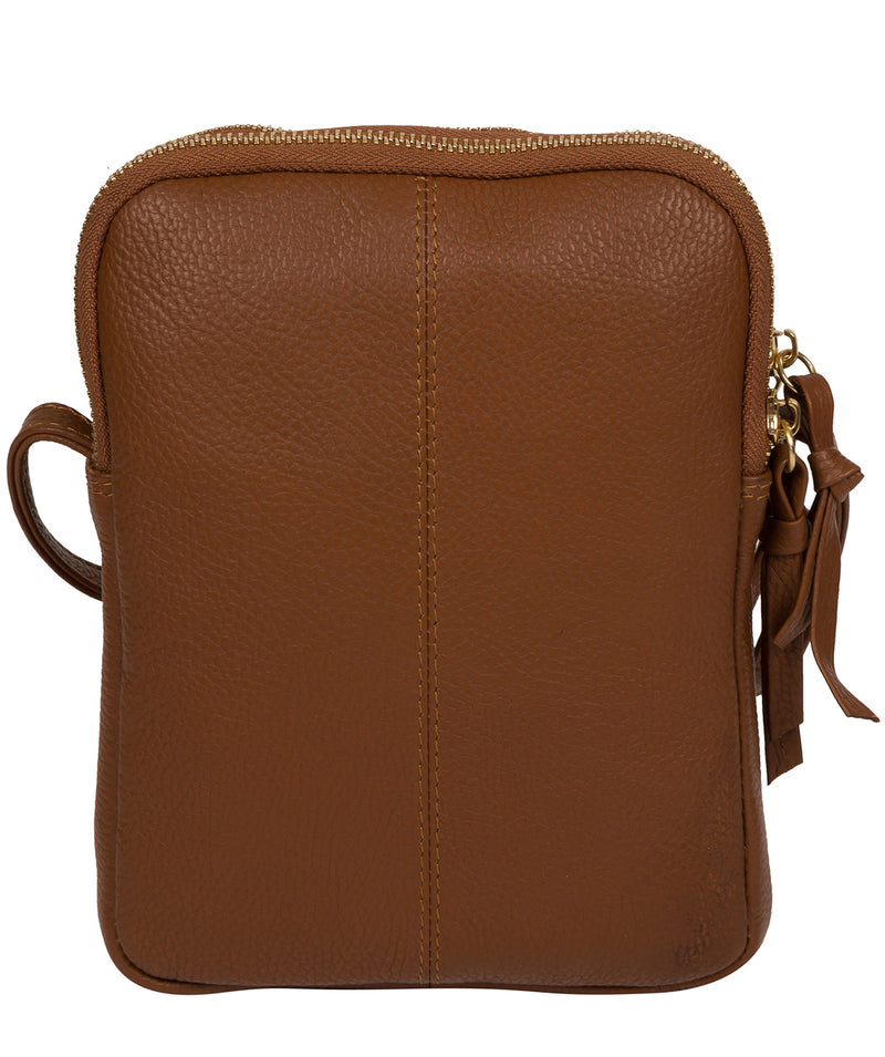 'Minnie' Tan Leather Cross Body Bag image 3