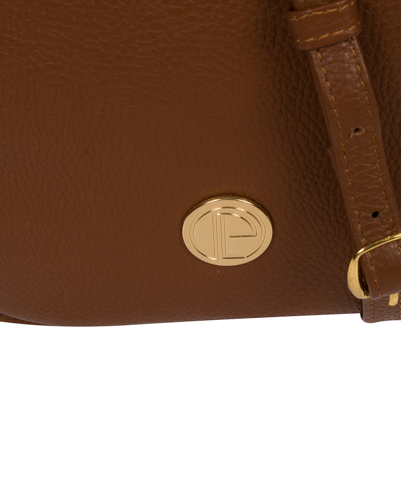 'Minnie' Tan Leather Cross Body Bag image 6
