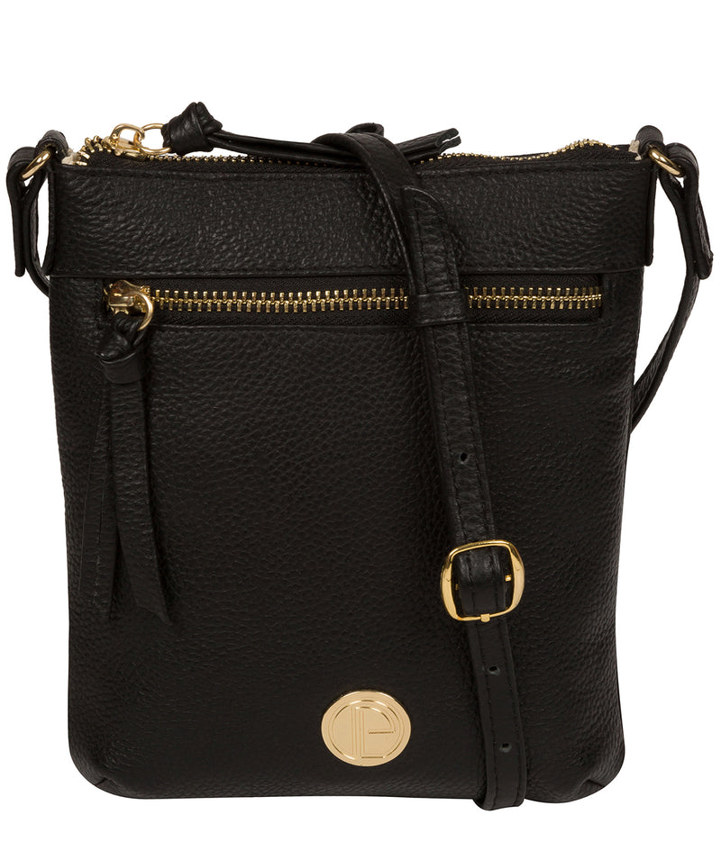 'Trixie' Black Leather Cross Body Bag image 1