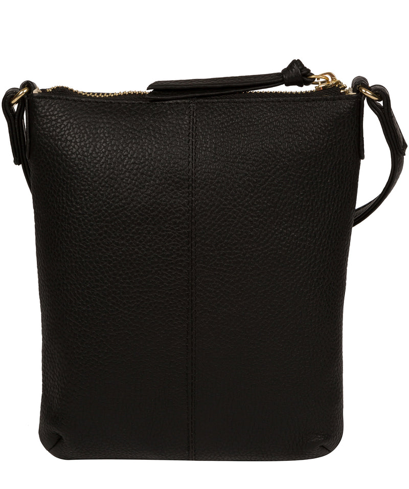 'Trixie' Black Leather Cross Body Bag image 3