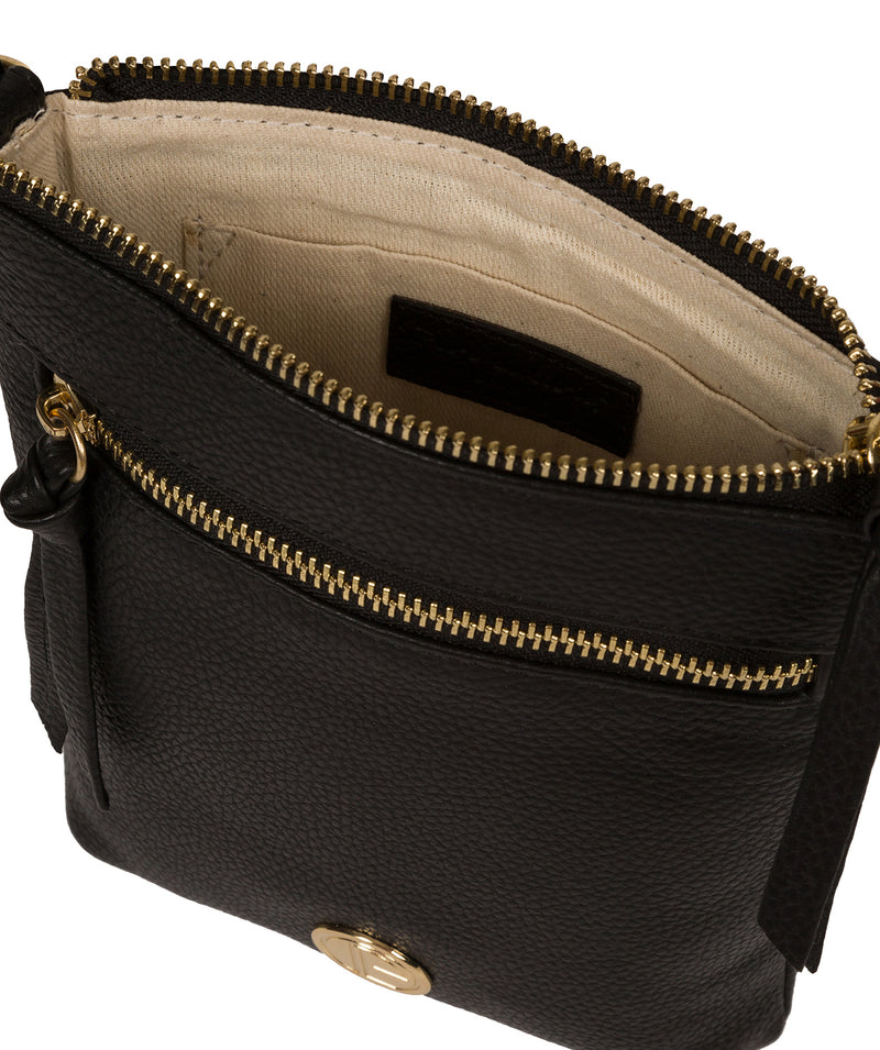 'Trixie' Black Leather Cross Body Bag image 4