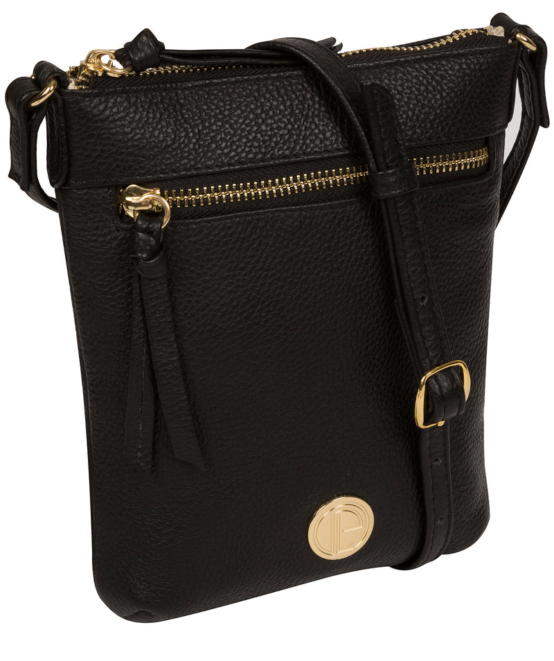 'Trixie' Black Leather Cross Body Bag image 5