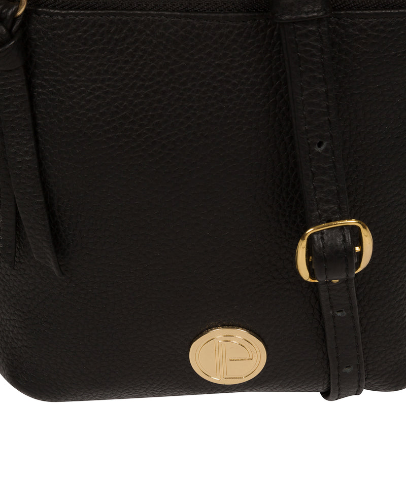 'Trixie' Black Leather Cross Body Bag image 6