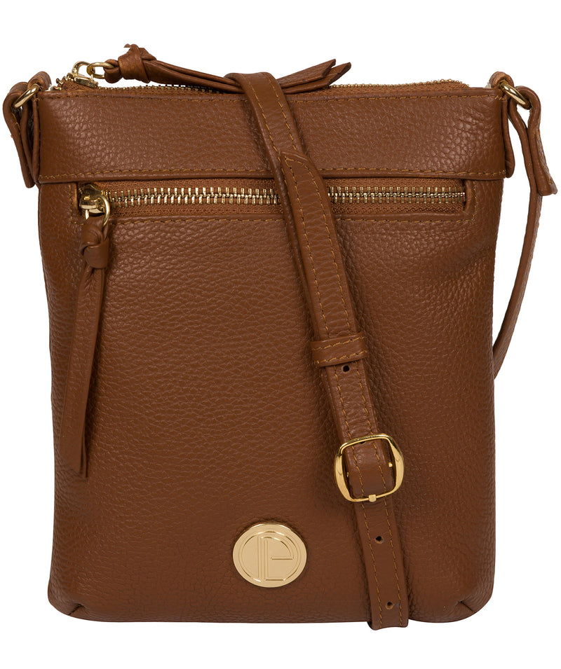 'Trixie' Tan Leather Cross Body Bag image 1