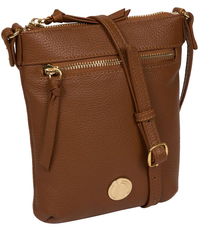 'Trixie' Tan Leather Cross Body Bag image 5