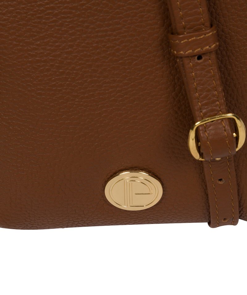 'Trixie' Tan Leather Cross Body Bag image 6