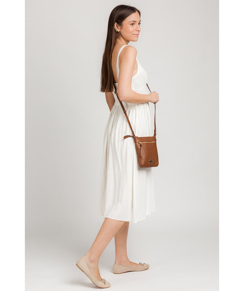 'Trixie' Tan Leather Cross Body Bag image 2