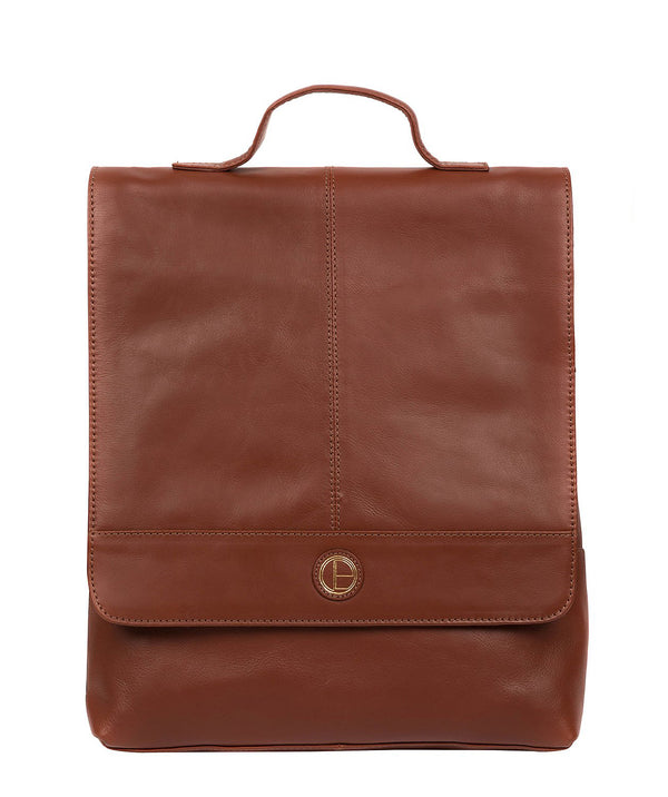 'Pembroke' Vintage Cognac Leather Backpack