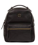 'Colchester' Vintage Black Leather Backpack