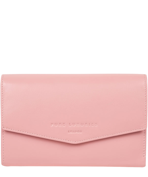 'Highgrove' Blossom Pink Leather Purse image 1