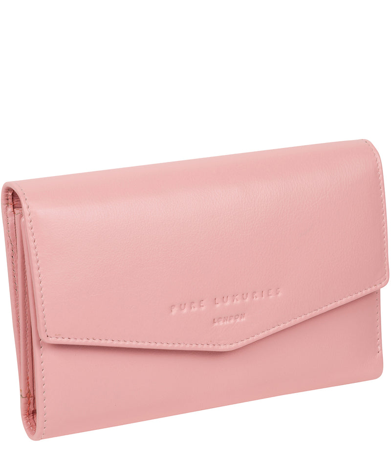 'Highgrove' Blossom Pink Leather Purse image 3