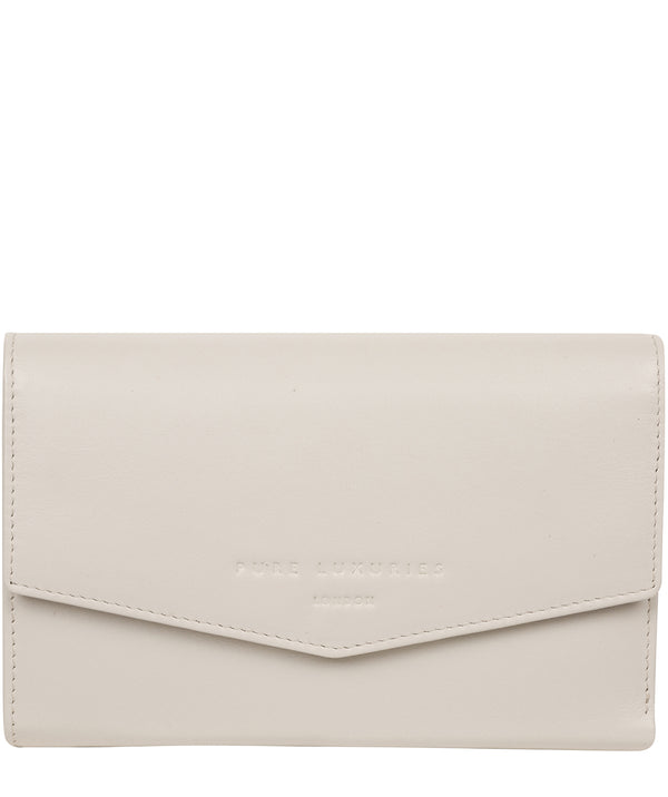 'Highgrove' Glacier Grey Leather Purse image 1