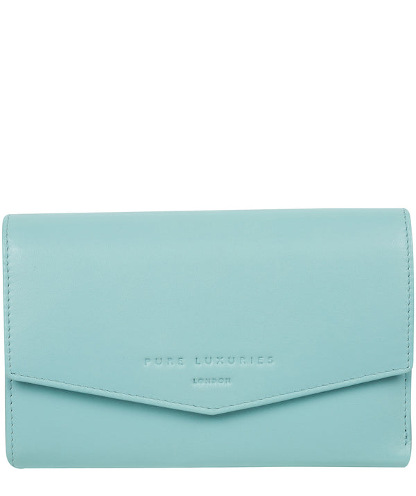 'Highgrove' Paradise Blue Leather Purse