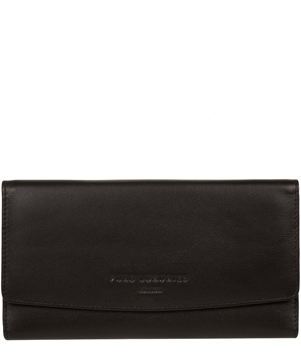'Balmoral' Black Leather Purse image 1