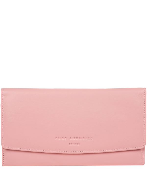 'Balmoral' Blossom Pink Leather Purse image 1