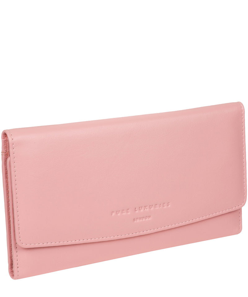 'Balmoral' Blossom Pink Leather Purse image 3