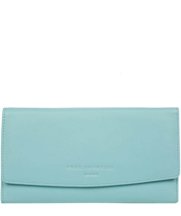 'Balmoral' Paradise Blue Leather Purse image 1