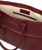 'Buckingham' Deep Red Leather Tote Bag image 4