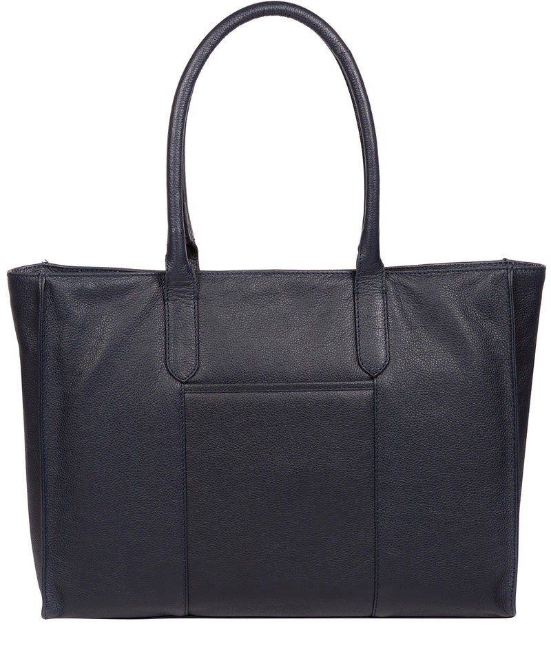 'Buckingham' Navy Leather Tote Bag image 3