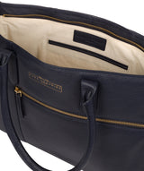 'Buckingham' Navy Leather Tote Bag image 4