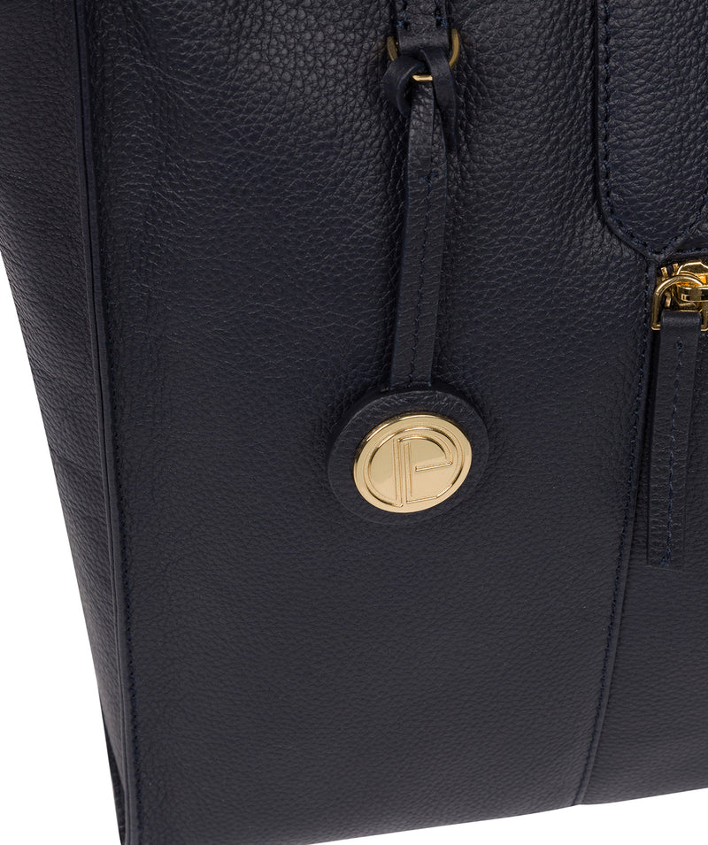 'Buckingham' Navy Leather Tote Bag image 6