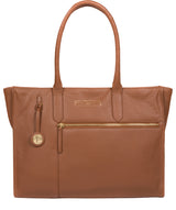 'Buckingham' Tan Leather Tote Bag image 1