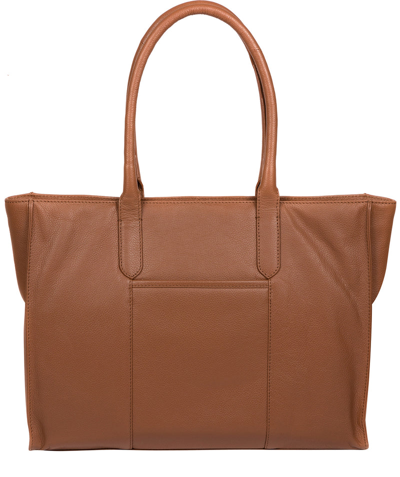'Buckingham' Tan Leather Tote Bag image 3