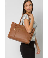 'Buckingham' Tan Leather Tote Bag image 2