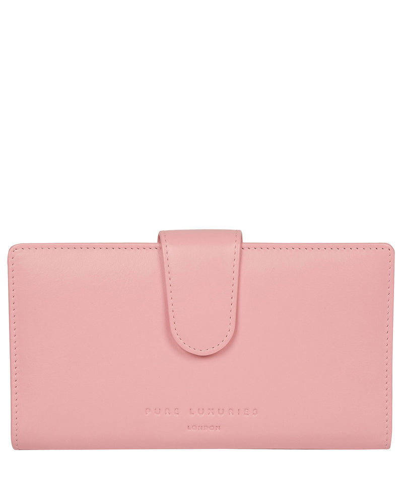'Clarendon' Blossom Pink Leather Purse image 1