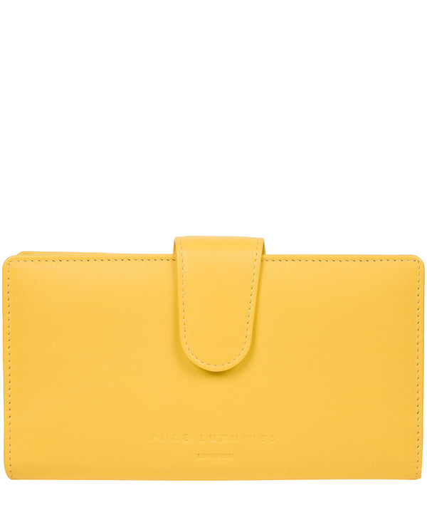 'Clarendon' Dandelion Leather Purse image 1