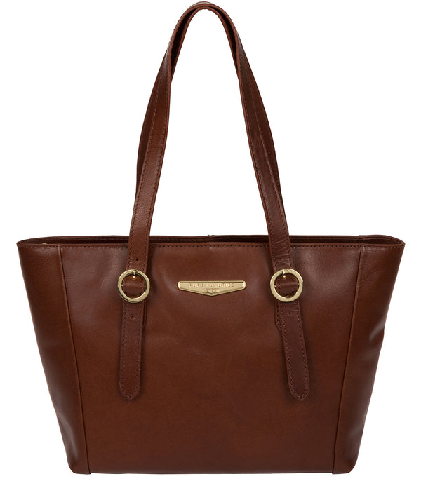'Adelina' Brown Leather Tote Bag image 1