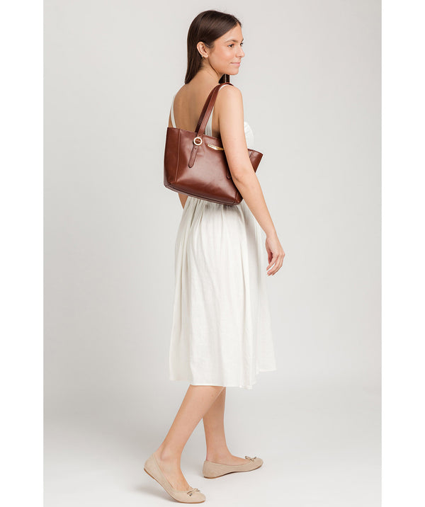 'Adelina' Brown Leather Tote Bag image 2