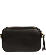 'Donatella' Black Leather Cross Body Bag image 3